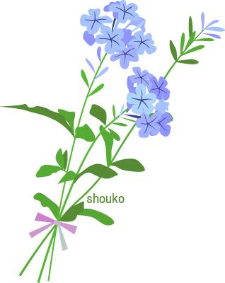 るりまつり 夏の花 無料イラスト フリー素材