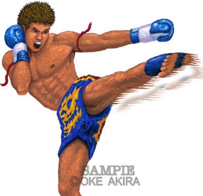スポーツイラスト格闘技K1人物