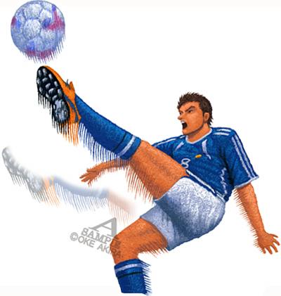 スポーツイラスト人物サッカー