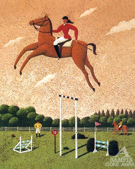乗馬、人物、動物、スポーツ、イラスト