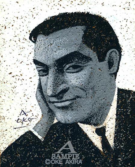 イラスト、人物、似顔絵、ロバート・キャパ、モノクロ、肖像画、