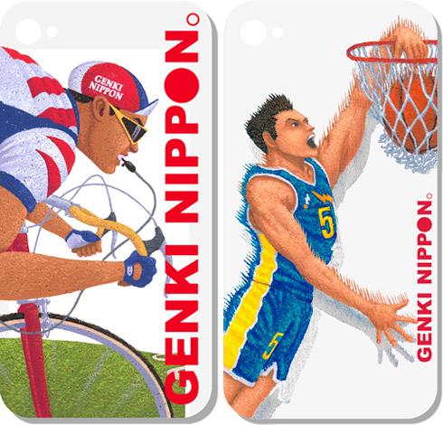 スポーツイラストバスケットサイクリング 震災 iPhoneケース