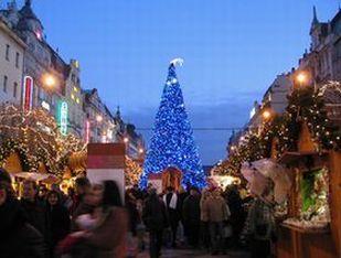プラハのクリスマスツリー☆