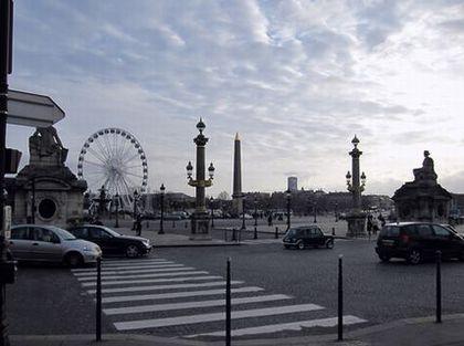 夕暮れのコンコルド広場