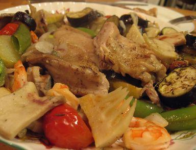 たけのこと鶏のオーブン焼き