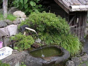 おばあちゃんお勧めの水飲み場