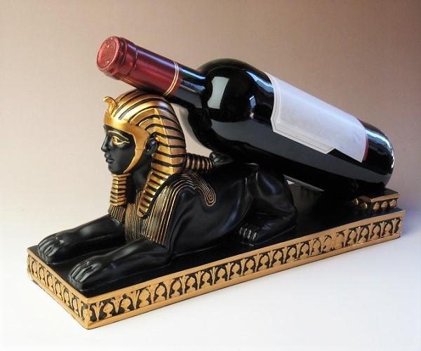 スフィンクスのワインボトルホルダー