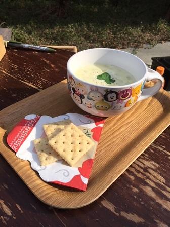 豆乳クラムチャウダー