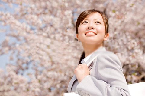 新社会人と桜