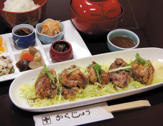 菜彩鶏唐揚げランチ700