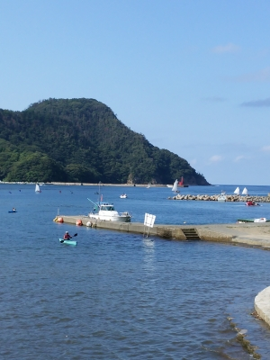 ヨットやカヌーがいっぱい