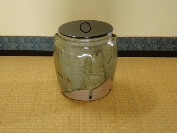 塩月弥栄子 御てんば焼水指 共箱 茶道具 水指