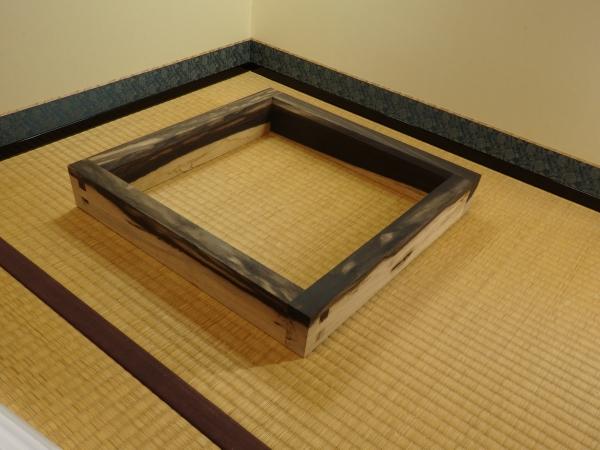 川瀬表完 黒柿炉縁 共箱 茶道具 炉の時期 炉縁