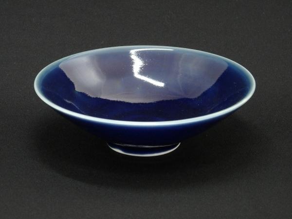 近藤高弘 瑠璃釉茶碗 共箱 茶碗 茶道具