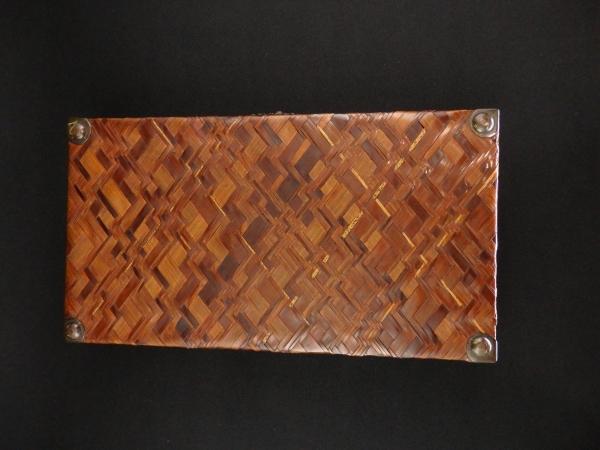 時代 竹組 硯箱 骨董 文具