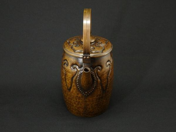 大西成古 黄銅毛宇留 水指 共箱 煎茶道具