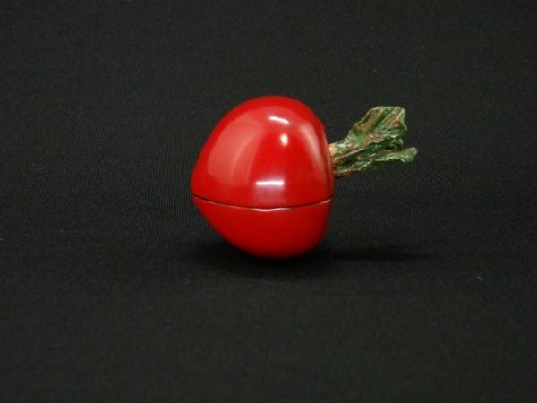 川瀬表完 乾漆赤蕪香合 共箱 茶道具 香