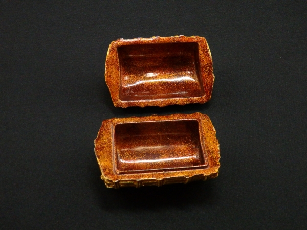 川瀬表完 天然胎乾漆 俵香合 共箱 茶道具