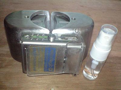 『ゼロ磁場活水器』と『化粧水入りアトマイザー』