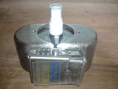 ゼロ磁場活水器に、化粧水入りアトマイザーをセット!