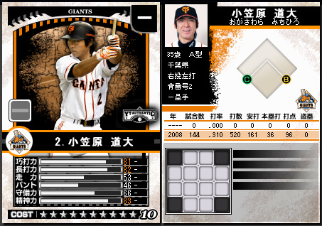 プロ野球チームをつくろう ONLINE2 小笠原道大 巨人