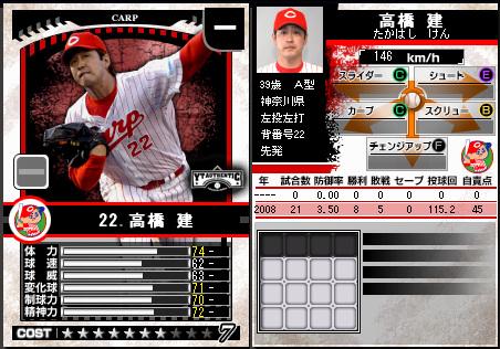 プロ野球チームをつくろう ONLINE2 高橋建 広島カープ