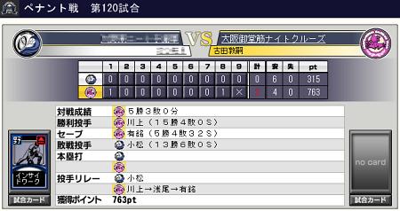 プロ野球チームをつくろう ONLINE2 メジャー 8-3 120試合 2位決定戦