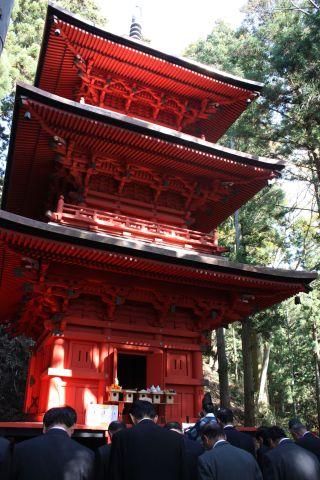 木幡隠津島神社三重の塔