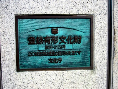 京都国立近代美術館前の鳥居