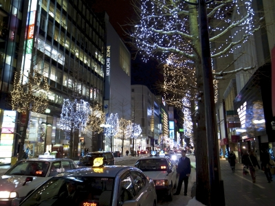 北海道 札幌 中央区 大通 GRDIGITAL? 冬 雪 夜