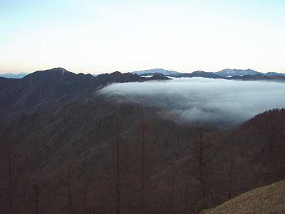 飛竜山と雲海