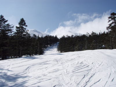 山スキーコース