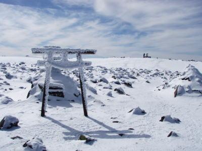 山頂の神社