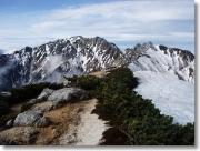 南駒ヶ岳の稜線