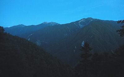 赤石岳方面