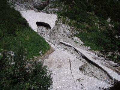 三の沢雪渓