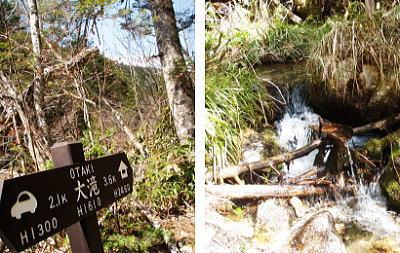 大滝の水場