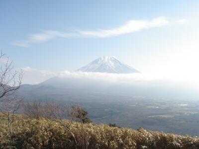 東屋からの富士山