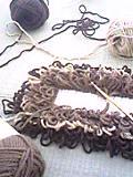 編み編みしてます。