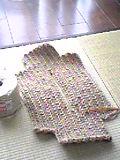こんな形に編んでおきます。