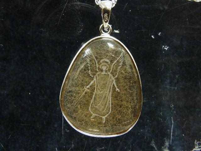 SHRI天使の刻印ペンダント 茶水晶1-3