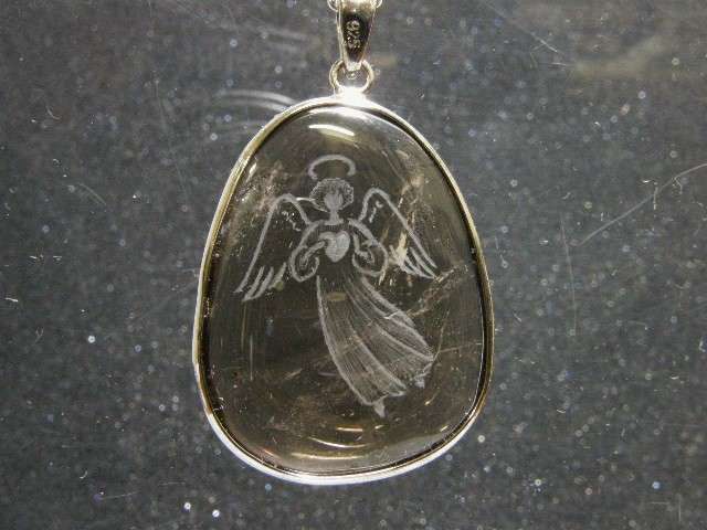 SHRI天使の刻印ペンダント 茶水晶3-1