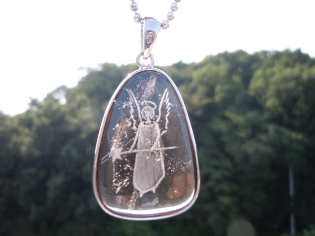 SHRI天使の刻印ペンダント 茶水晶6-3