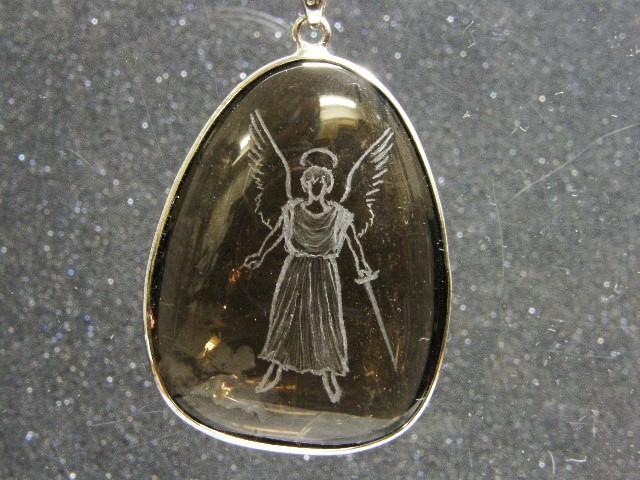 SHRI天使の刻印ペンダント 茶水晶7-1