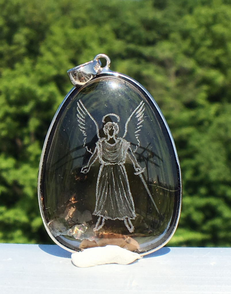 SHRI天使の刻印ペンダント 茶水晶7-4