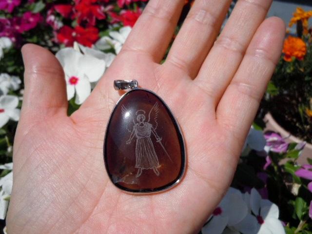 SHRI天使の刻印ペンダント 茶水晶7-5