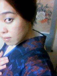 久々に大島(紬)を着ました