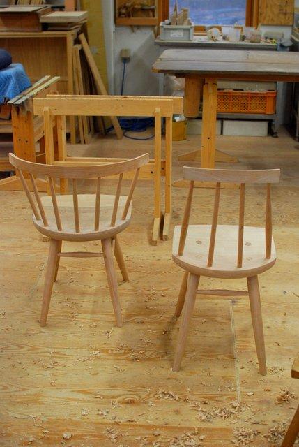 木組みの椅子