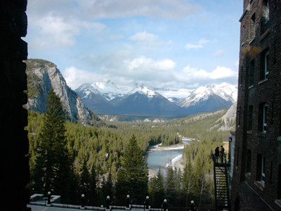 Banff Springs Hotelの部屋から
