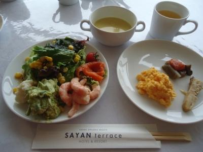 御宿「サヤン・テラス」朝食